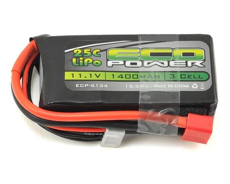 "EcoPower ""Electron"" 3S LiPo 25C Battery (11.1V/1400mAh)"