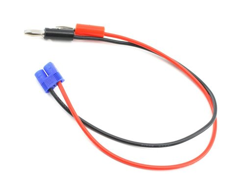 "E-flite EC3 Device Charge Lead w/12"" Wire & Jacks, 16GA"