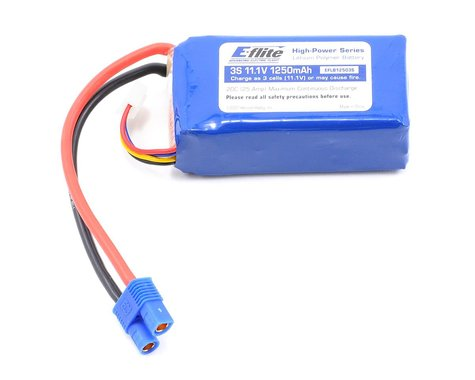 E-flite 3S Li-Poly Battery 20C (11.1V/1250mAh)