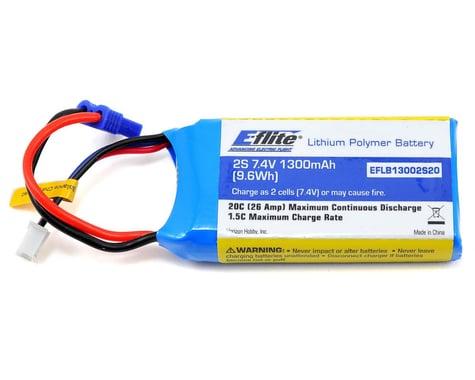 E-flite 2S LiPo Battery 20C (7.4V/1300mAh)
