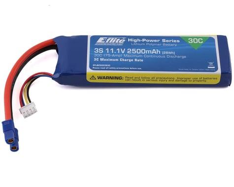E-flite 11.1V 2500mAh 3S 30C LiPo, Battery: EC3