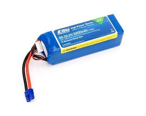 E-flite 3200mAh 6S 22.2V 30C LiPo, 12AWG EC3