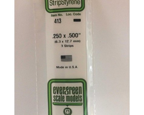 "Evergreen Scale Models 24"" Strip Pack, .250x.500 (3)"