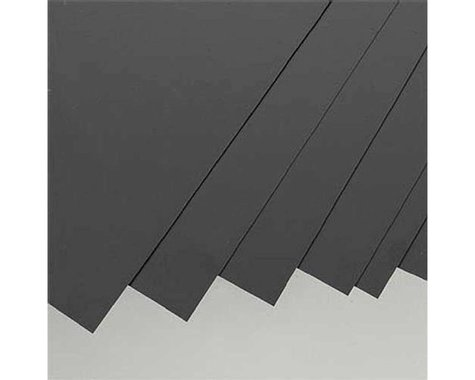 "Evergreen Scale Models Black Styrene Sheets, .01x8x21"" (8)"