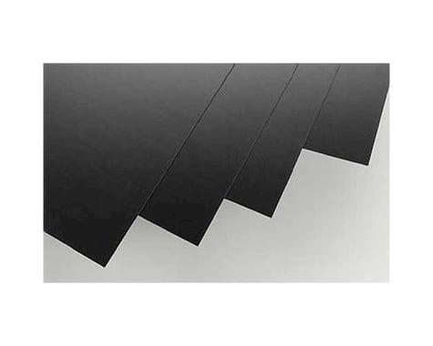 "Evergreen Scale Models Black Styrene Sheets, .03x8x21"" (4)"