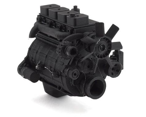 Exclusive RC Scale 4BT Diesel Engine Kit (Fits 540 Motor) (Carbon Nylon)