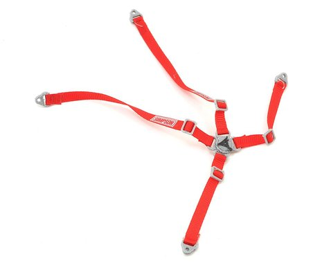 Exclusive RC 4 Point Race Harness (Simpson Red)