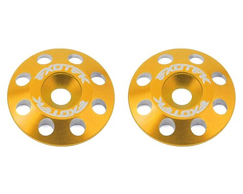 Exotek Flite V2 16mm Aluminum Wing Buttons (2) (Gold)