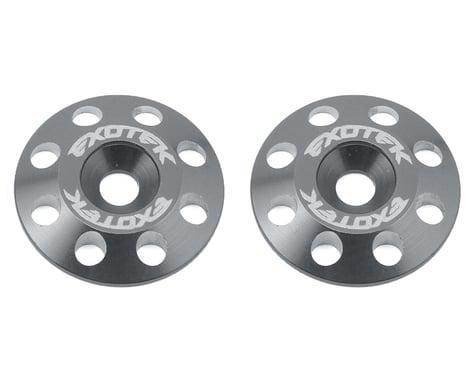 Exotek Flite V2 16mm Aluminum Wing Buttons (2) (Gun Metal)