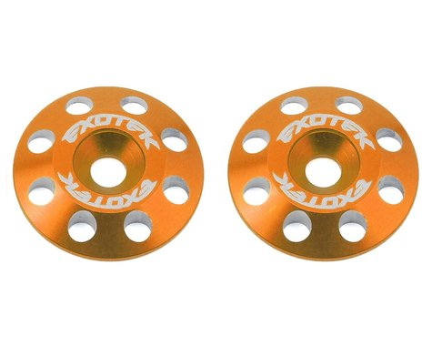 Exotek Flite V2 16mm Aluminum Wing Buttons (2) (Orange)