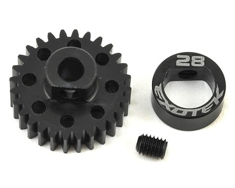 Exotek Flite 48P POM Pinion Gear w/Alloy Collar (3.17mm Bore) (28T)