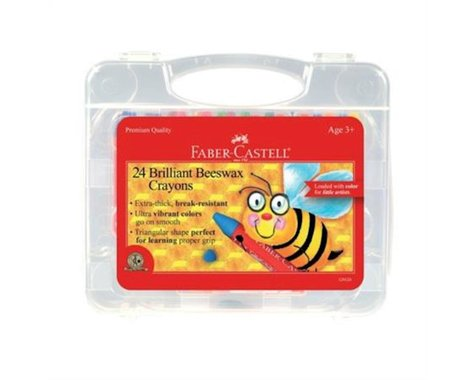 Faber-Castell - Beeswax Crayons in Storage Case (24 count)