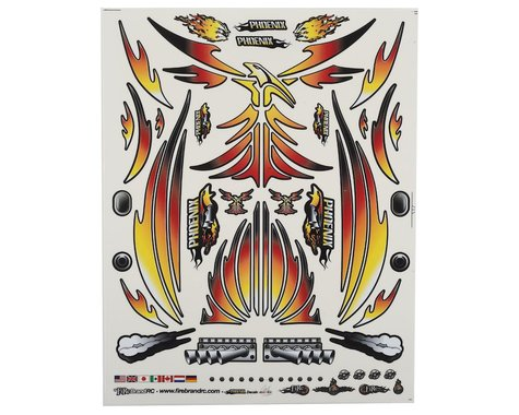 "Firebrand RC Concept Phoenix Decal (Orange) (8.5x11"")"