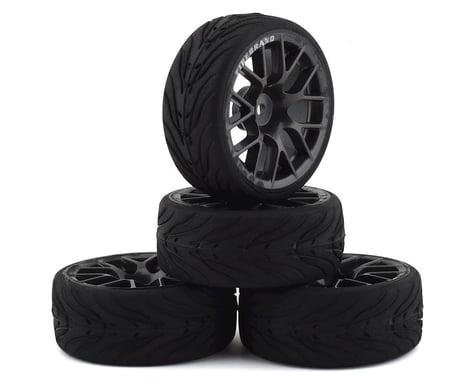 Firebrand RC Hypernova-RT3 Pre-Mounted On-Road Tires (4) (Gun Metal)