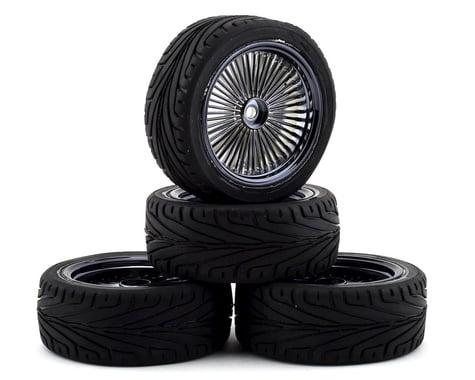 Firebrand RC OG RT3 Pre-Mounted On-Road Tires (4) (Smoke Chrome)
