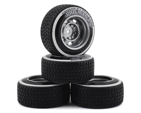 Firebrand RC Promag 15-D2T Pre-Mounted Drift Tires (4) (Silver)