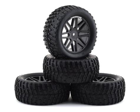 "Firebrand RC Saber VXR 2.2"" Pre-Mounted Truck Tires (4) (Black)"