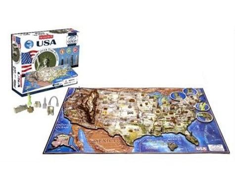 4D Cityscape USA Map 4D Timeline Puzzle (950+pcs)