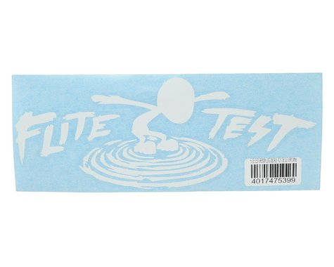 "Flite Test 10.5"" Die Cut Gremlin Logo Vinyl Decal (White)"