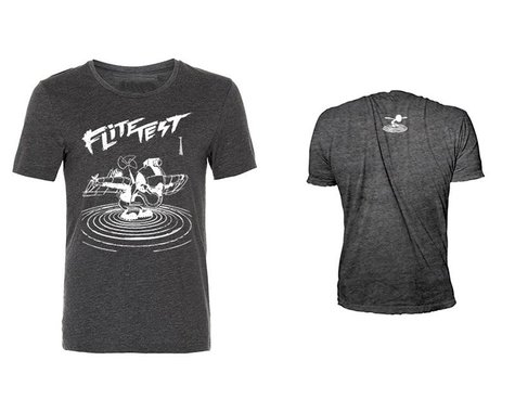 Flite Test Gremlin Illustration T-Shirt (Charcoal) (L)