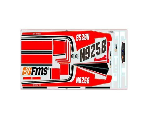 FMS Decal Sheet: Sky Trainer 182 1400mm, Red