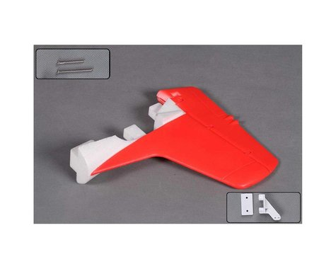 FMS Vertical Stabalizer: T28 V4 1400mm,  Red