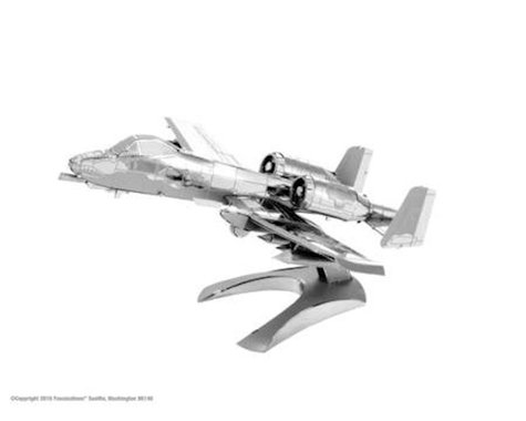 Fascinations Metal Earth A-10 Warthog Airplane 3D Metal Model Kit