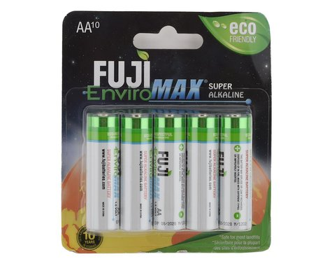 SCRATCH & DENT: Fuji EnviroMAX AA Super Alkaline Battery (10)