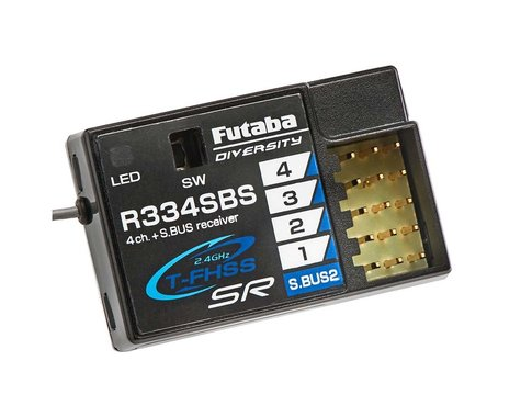 Futaba R334SBS TFHSS SR S.Bus2 HV 4-Channel 2.4GHz Receiver