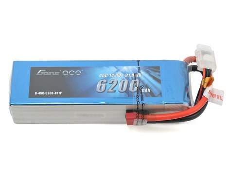 Gens Ace 4s LiPo Battery 45C  (14.8V/6200mAh)