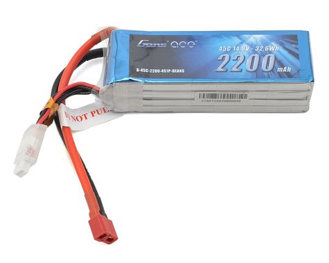 Gens Ace 4S LiPo Battery 45C (14.8V/2200mAh)