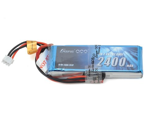 Gens Ace 2S LiPo Receiver Battery Pack (7.4V/2400mAh)