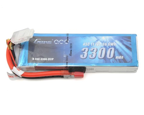 Gens Ace 3s LiPo Battery Pack 45C w/Deans Connector (11.1V/3300mAh)