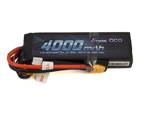 Gens Ace 3S Soft 50C LiPo Battery Pack w/XT60 Connector (11.1V/4000mAh)