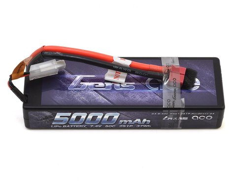 Gens Ace 2S Stick 50C LiPo Battery w/T-Style Connector (7.4V/5000mAh) (Type 2)