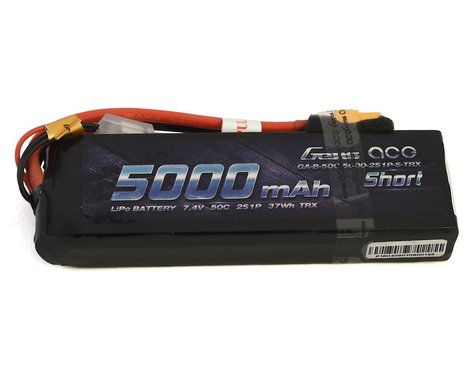 Gens Ace 2S Soft 50C LiPo Battery Pack w/XT60 Connector (7.4V/5000mAh)
