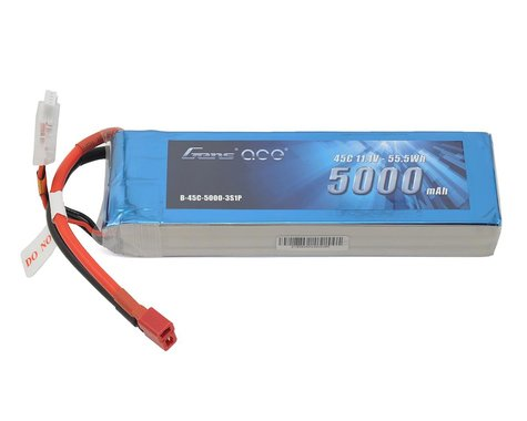 Gens Ace 3S LiPo Battery Pack 45C w/Deans Connector (11.1V/5000mAh)