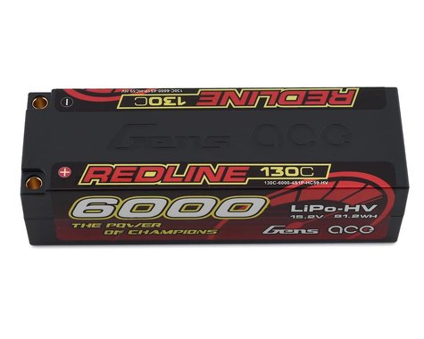 Gens Ace Redline 4S LiHV LiPo Battery 130C (15.2V/6000mAh)