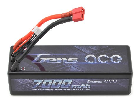 Gens Ace 3s LiPo Battery Pack 60C w/T-Style Plug (11.1V/7000mAh)
