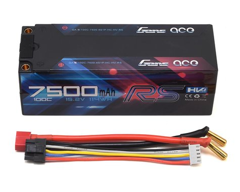 Gens Ace 4S LiHV 100C LiPo Battery Pack w/5mm Bullets (15.2V/7500mAh)