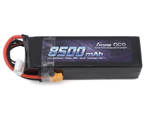 Gens Ace 4S 50C LiPo Battery Pack w/XT60 Connector (14.8V/8500mAh)