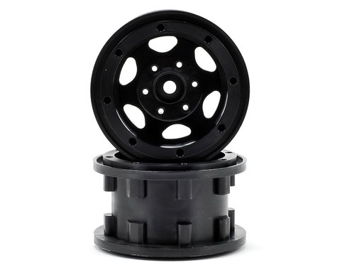 "Gmade GT 2.2"" Beadlock Rock Crawler Wheels (2) (Black)"