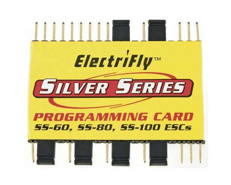 Great Planes Silver Series Programming Card SS-60 SS-80