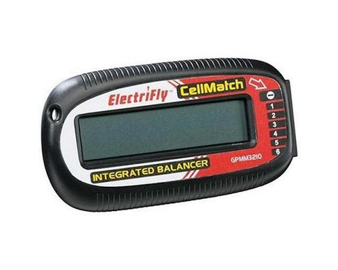 Great Planes Electrifly CellMatch LiPo 2-6S Balancer Meter w/LCD