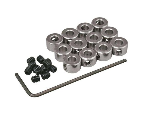 """Great Planes Plated Wheel Collars 1/8"""" (12)"""