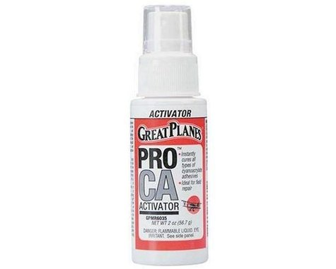 Pro CA Foam Safe Activator w Pump 2 oz