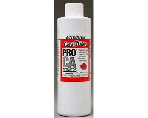 Great Planes Pro CA Foam Safe Activator Refill 8 oz