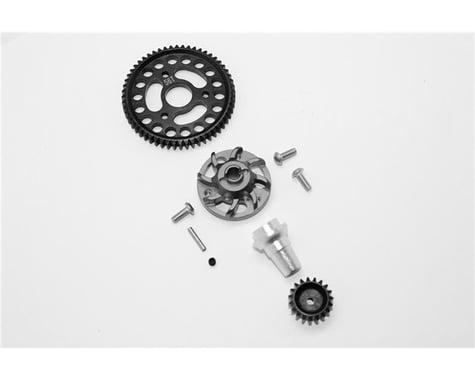 GPM Racing Traxxas Aluminum Gear Adapter w/Steel 32 Pitch 56T Spur Gear & 19T Motor Gear