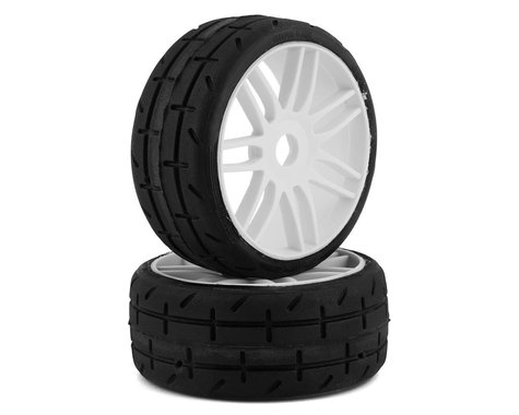 GRP GT - TO1 Revo Belted Pre-Mounted 1/8 Buggy Tires (White) (2) (S1)