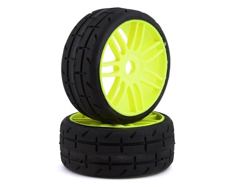 GRP GT - TO1 Revo Belted Pre-Mounted 1/8 Buggy Tires (Yellow) (2) (S1)